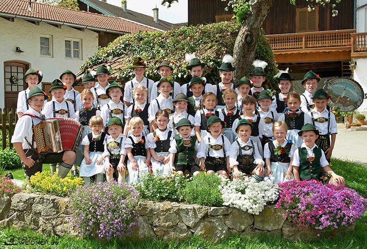 Gruppenfoto für Vereine GTEV Rimsting Kinder