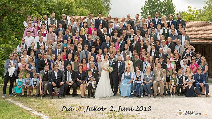 Foto Weidner Hochzeitsfotos Gruppenfoto Chiemgau Gstadt