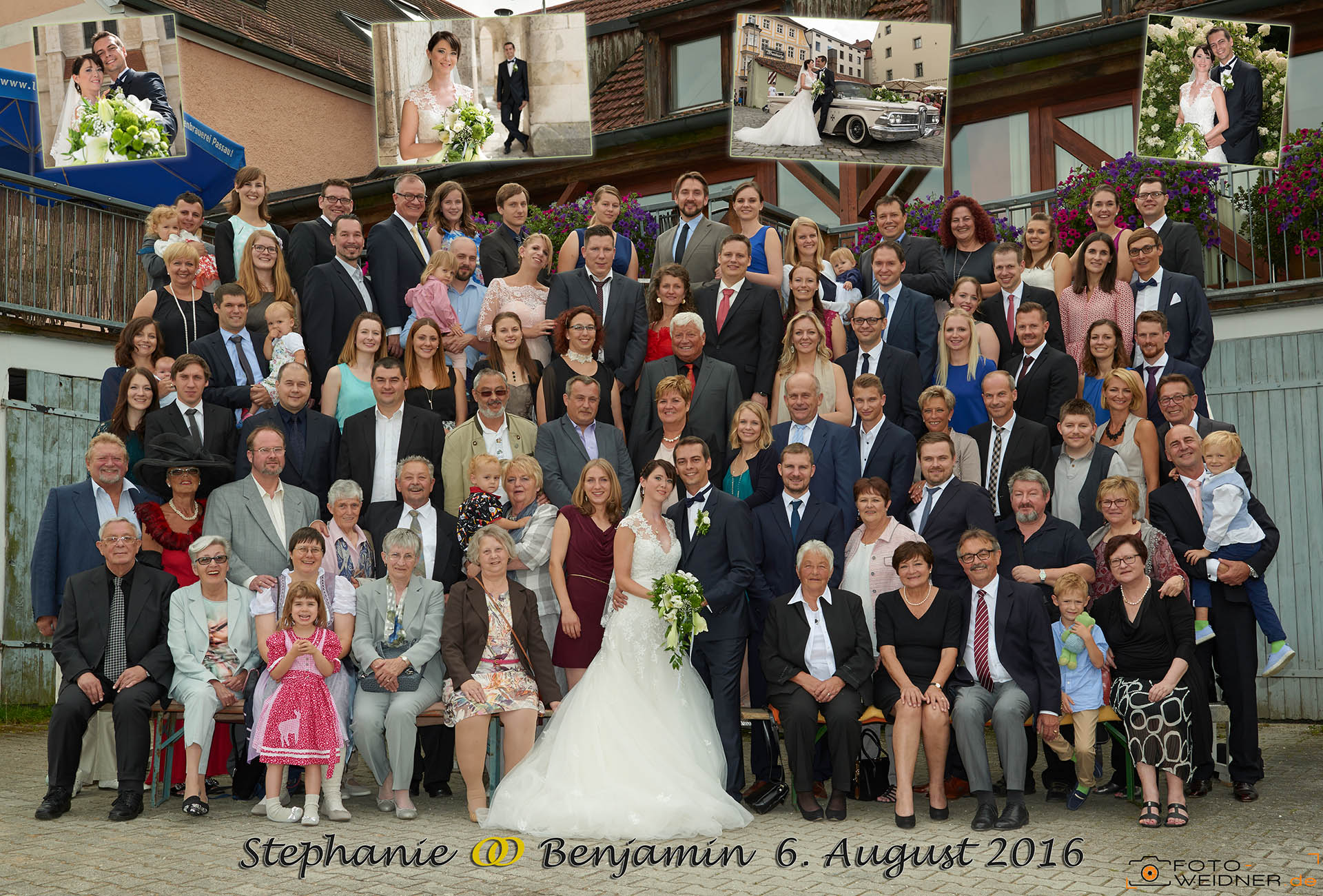 Gruppenfoto in Regensburg in der Oberpfalz