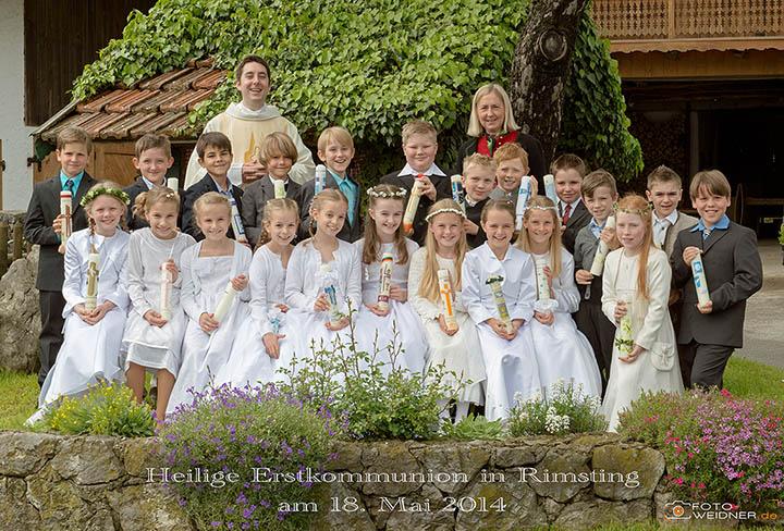 Gruppenfoto Erstkommunion Rimsting 2014