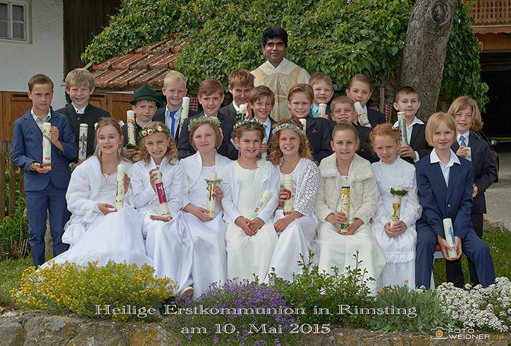 Gruppenfoto Erstkommunion Rimsting 2015