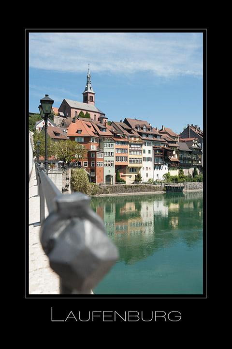 Landschaftsfotografie Laufenburg am Rhein in Baden-Württemberg Deutschland