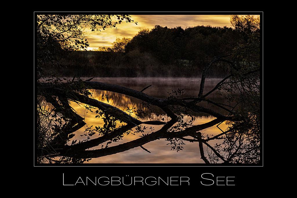 Landschaftsfotografie Langbuergner See im Chiemgau in Bayern Deutschland