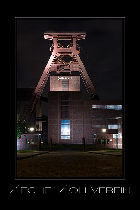 Landschaftsfotografie Zeche Zollverein in Essen Nordrhein-Westfalen Deutschland