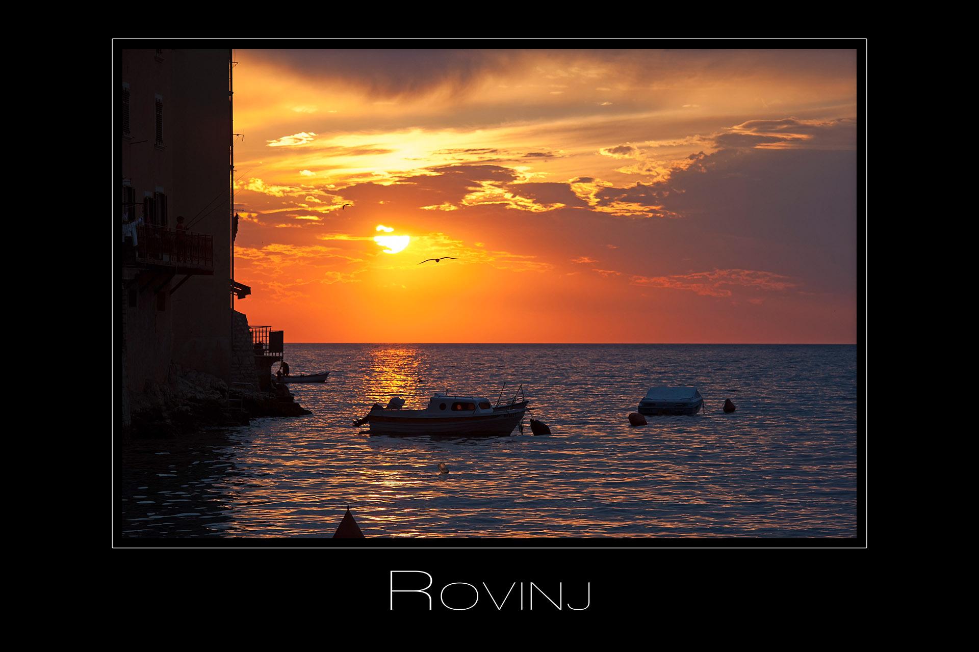 Landschaftsfotografie Sonnenuntergang in Rovinj Kroatien
