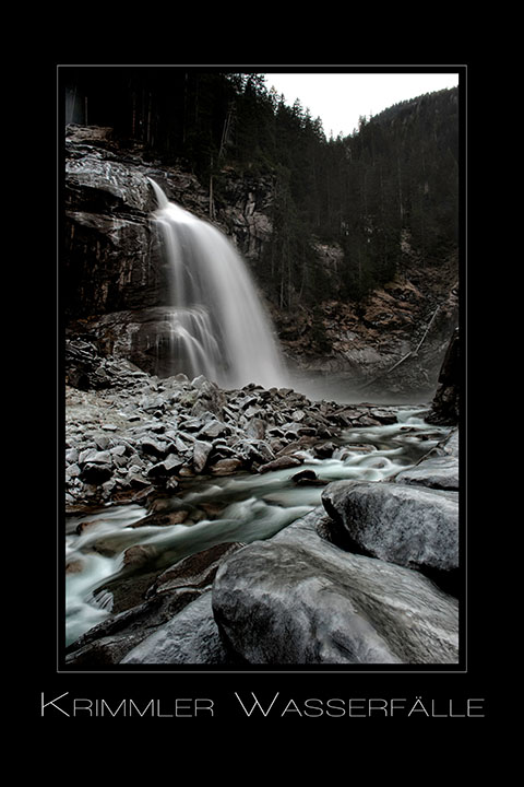 Krimmler Wasserfaelle nahe dem Zillertal und Gerlos in Tirol Oesterreich