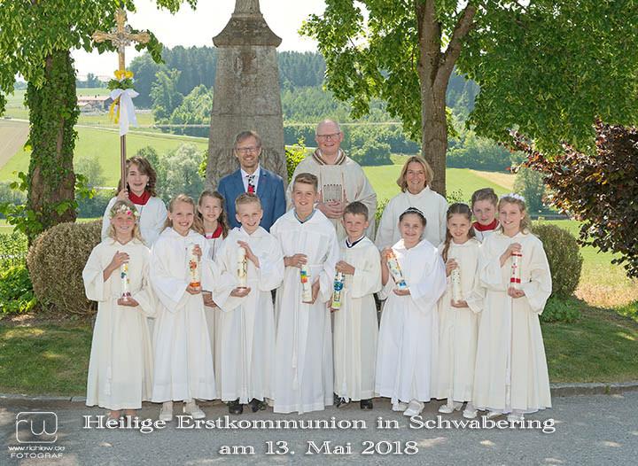 Gruppenfoto Erstkommunion Schwabering 2018